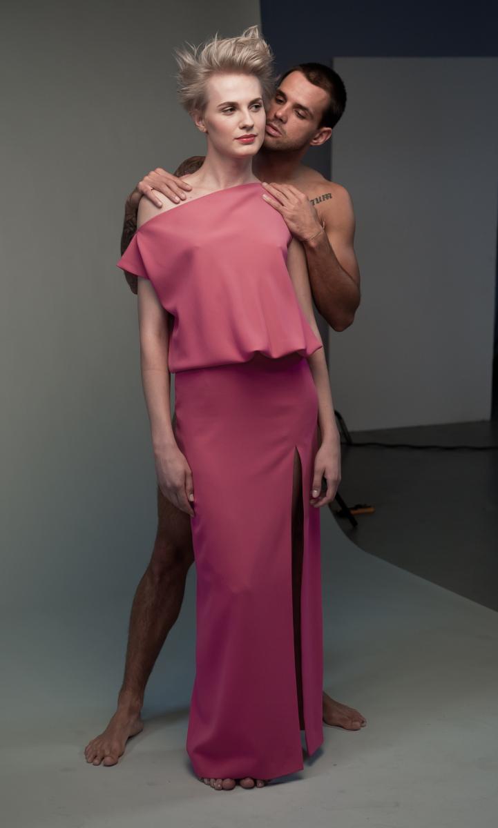 Michalina pozuje z modelem